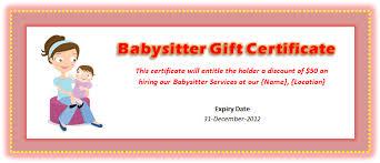 gift voucher samples babysitting voucher template microsoft word templates