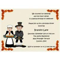 thanksgiving theme birthday invitations