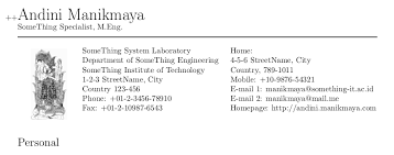 Best Latex Resume Template by Academic Cv Resume Using Latex Arwindra Rizqiawan