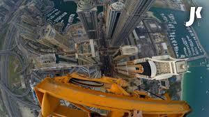 climbing down dubai u0027s tallest tower crane youtube