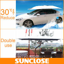 sunclose factory car canopy golf umbrella car front rear window