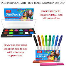 amazon com best face paint kit for kids with 12 non toxic color