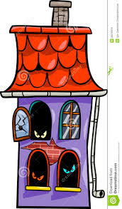 haunted house cartoon illustration royalty free stock images
