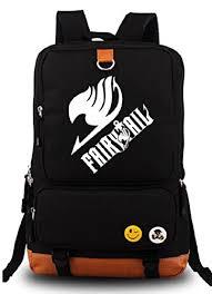 amazon black friday anime yoyoshome fairy tail anime cartoon canvas backpack bag