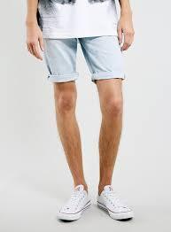 light wash denim shorts topman light wash denim roll up shorts where to buy how to wear