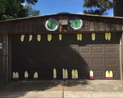 how to get into the halloween spirit houston heights garage door gets in the halloween spirit houston
