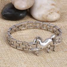 stainless steel charm bracelet chain images Stainless steel horse charm bracelet starrmart jpg