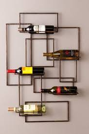 wine rack of steel and leather by deliafurniture on etsy 350 00
