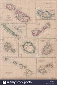 Map Of Tahiti Islands Malta Madeira Bermuda Reunion Hawaii Tahiti Mauritius