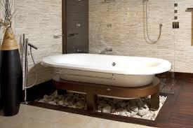 bathroom fascinating white bathtub surround at gray stone panel