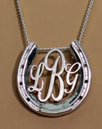 monogram pendants horseshoe monogram necklace