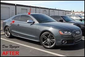 etc audi audi s5 coupe gloss black window trim vinyl car wrap wannabe