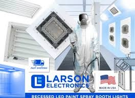 led paint booth lighting paint booth lighting larson electronics
