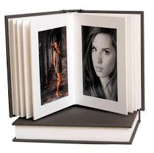 5x7 leather photo album artisan grey white 5x7 slip in album