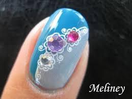 konad stamping nail art tutorial bejeweled rhinestone gems