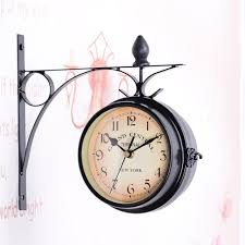 european antique style double side wall clock creative classic