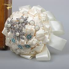 buy wedding bouquet crystal pearls and get free shipping on