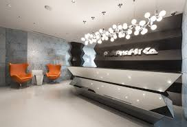 Reception Desk Designs Chairs Decoration For Office Design With Modern Pendant