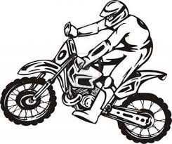 dirt bike coloring pages fierce rider dirt bike coloring dirtbikes