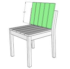 Free Wood Outdoor Chair Plans by Ana White Simple Stackable Outdoor Chairs Diy Projects