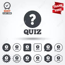 quiz with question mark sign icon questions and answers game