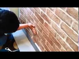 how to install self adhesive pvc wallpaper sticker brick design