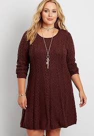 plus size soft cable knit sweater dress maurices