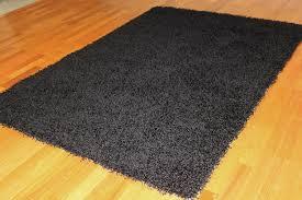 tapis shaggy tapis shaggy fancy noir trendcarpet fr