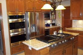kitchen island with stove top travertine countertops kitchen island with stove and oven lighting