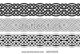 celtic national seamless ornament interlaced stock vector
