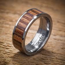 wood mens wedding bands titanium wood wedding band applewood men s ring by spexton on etsy