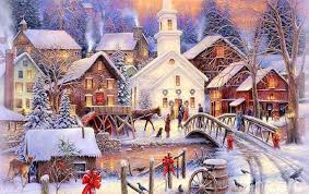 beautiful merry christmas winter scenes images happy christmas