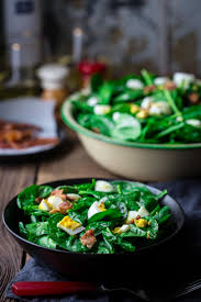 spinach salad with bacon and eggs healthy seasonal recipes