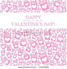s day card boxes valentines day card design celebration background stock vector