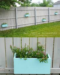 herb garden planter box planter boxes on the fence stacy risenmay