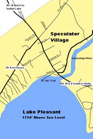 lake pleasant map ny route 30 the adirondack trail speculator lake pleasant