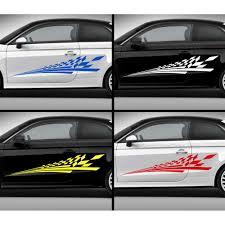 Flag Car Decals Checker Flag Car Stickers Custom Vinyl Side Stripe Graphic Decals