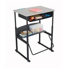 High Computer Desk Timber Computer Desk School And Office Furniture High Tech