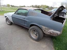 mustang project cars for sale 1968 ford mustang fastback 289 project car barn find