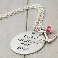 Love Anchors The Soulnautical Anchor - opensky women personalized anchor necklace love anchors