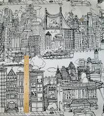 schumacher new york new york toile fabric black u0026 white