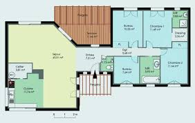 plan maison plain pied 4 chambres avec suite parentale plan maison plain pied 5 chambres avec suite parentale plan de