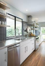 kitchen ideas for small kitchens galley modern white u0026 grey galley kitchen cultivate com kitchen
