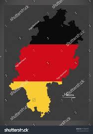 hessen map germany german national flag stock vector 715008793