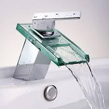 Bathroom Faucets Waterfall Faucets And Sinks Single Handle Bathroom Faucet Vessel Sink Moen