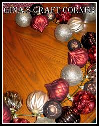 gina u0027s craft corner how to make a christmas ball wreath with a
