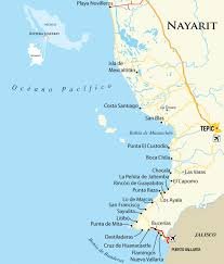 Huatulco Mexico Map by Interactive Map For Riviera Nayarit Mexico Pacific Vacation Towns