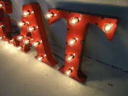 custom metal letter any one 18 inch steel letters light fixture