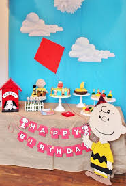 kara u0027s party ideas peanuts charlie brown birthday party kara u0027s