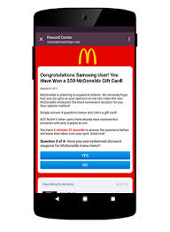 mcdonalds e gift card dfndr lab discovery mcdonald s phishing scam psafe